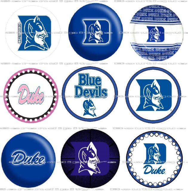 63 Ct Duke Blue Devils Craft Scrapbooking Bottle Cap 1 Stickers