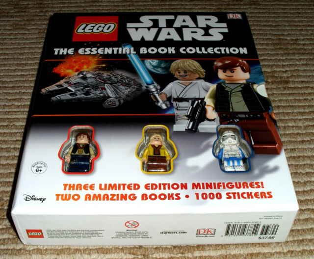 BRAND Lego Star Wars The Essential Book Collection W/3 Minifigures ...