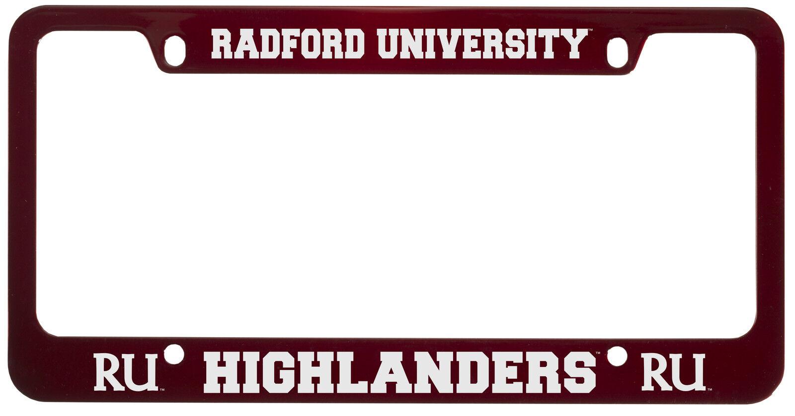 Radford University -metal License Plate Frame-red | eBay