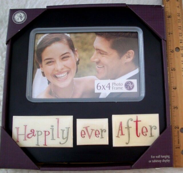 Happily Ever After Picture Frame 6 X 4 Wedding Love Photo Bridal