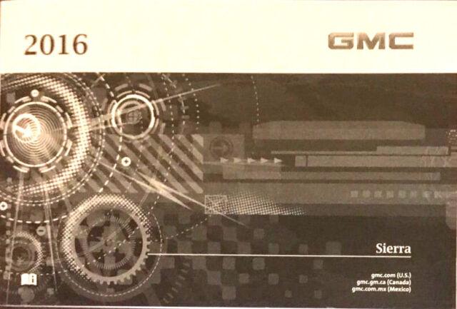 2016 gmc sierra owner s owner manual ebay rh ebay com 1992 gmc sierra 1500 owners manual 2010 gmc sierra 1500 owners manual