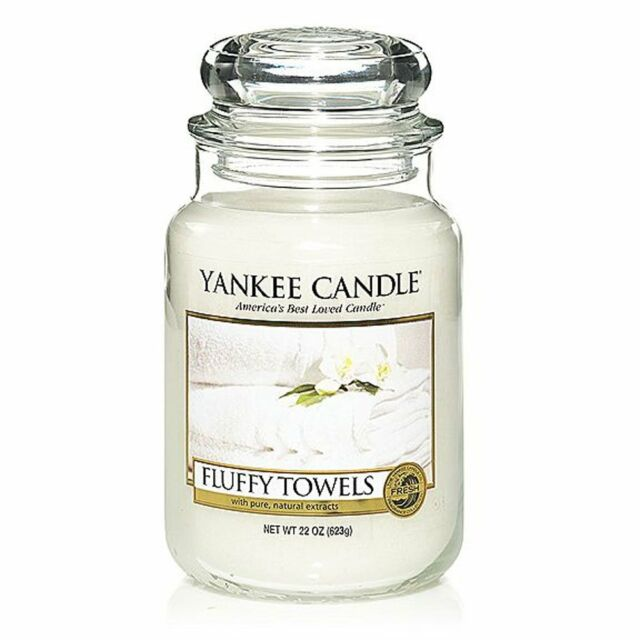 Yankee Candle 1205376E Fluffy Towels Large Classic Jar | eBay