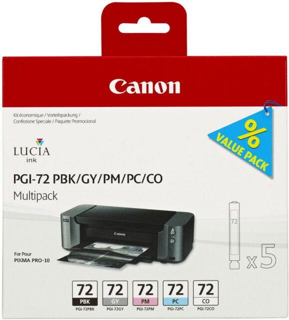 5 Canon Druckerpatronen original Tinte PGI-72 PBK / GY / PC / PM / CO Multipack