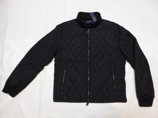 Polo Ralph Lauren Diamond Quilted Moto Bomber Jacket 2xl Black Ebay