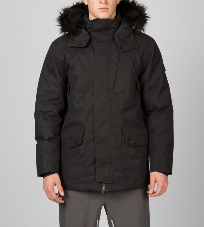 Spyder Deck Mens Parka 600 Fill Synthetic Down Winter Jacket Black ...