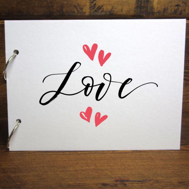 A4a5 Love Hearts Couples Scrapbook Removable Pages Photo Album Diy
