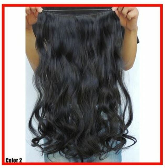 Natural Black 1bj Halo Style Flip In Hair Extensions 22princess
