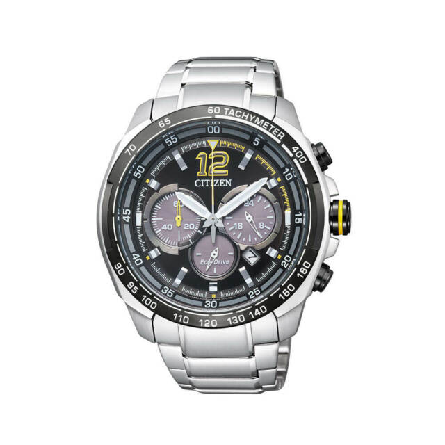 Citizen Eco-Drive Watch CA4234-51E, S/Steel Chronograph 45mm, WR 10ATM RRP$550