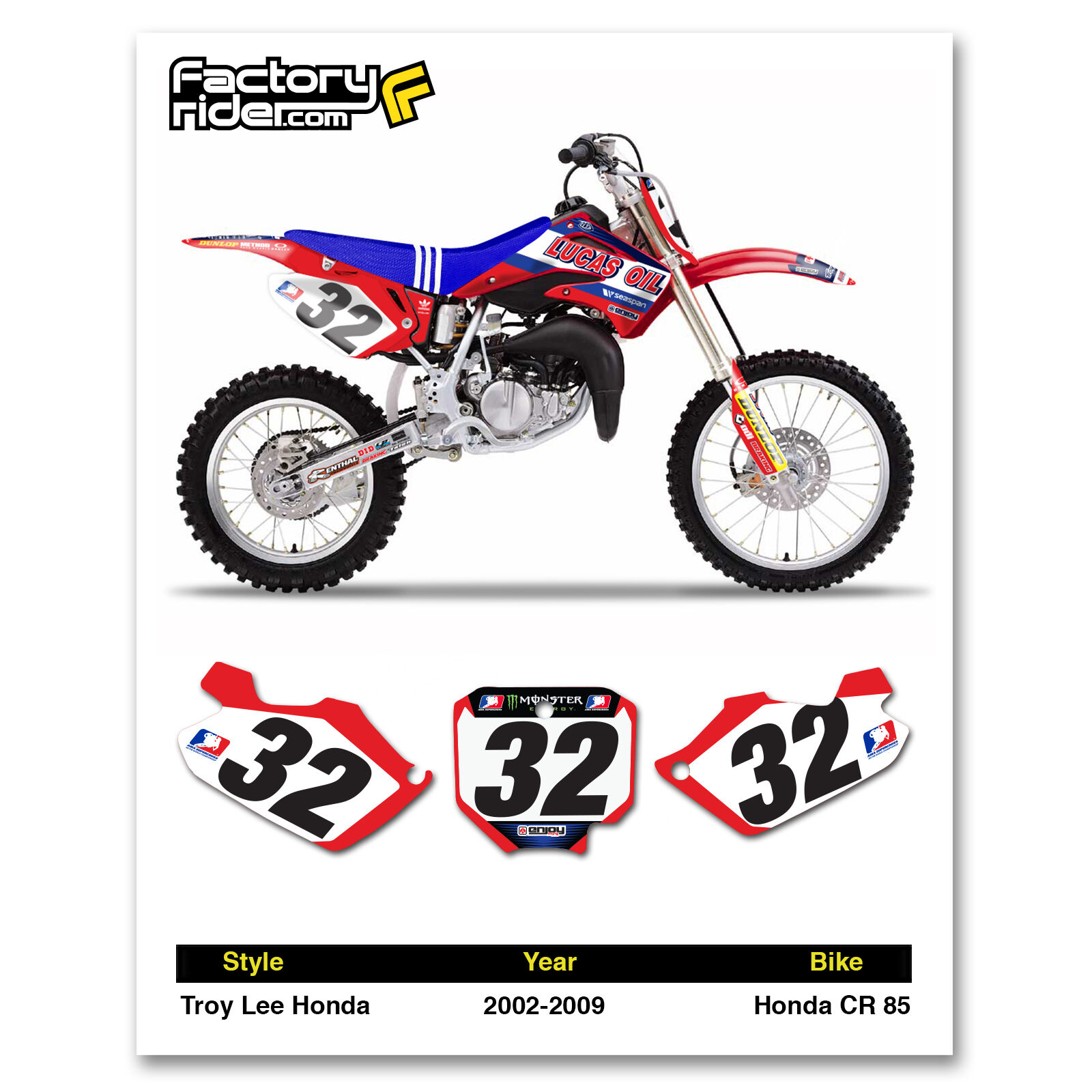 Vintage motocross number plate graphics - Picture 1 Of 4