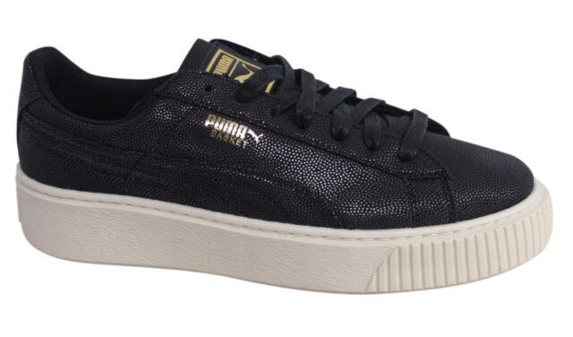 scarpe puma basket platform donna nere