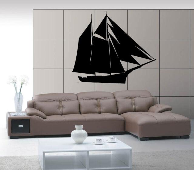 Ship Yacht Boat Keel See Ocean Marine Mural Wall Art Decor Vinyl ...