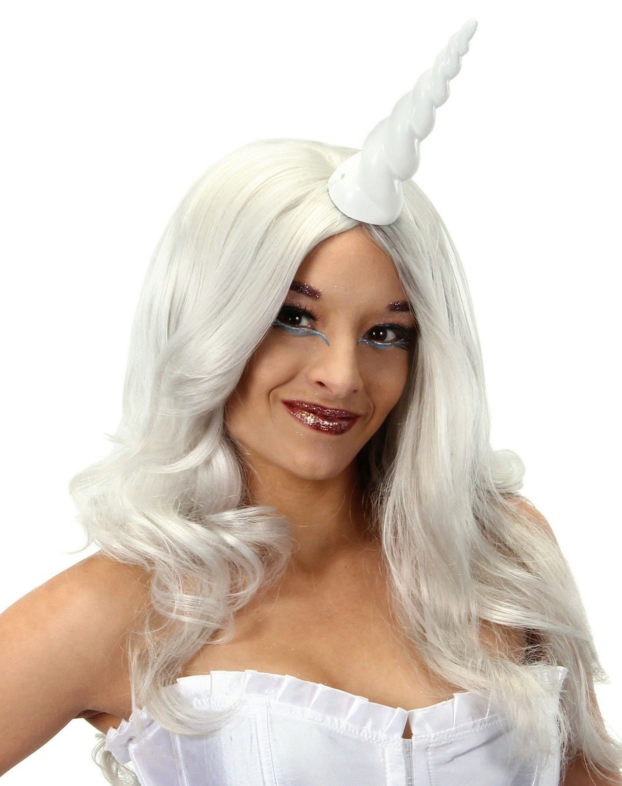 Picture 1 of 1  sc 1 st  eBay & White Unicorn Horn Costume Accessory Adult | eBay