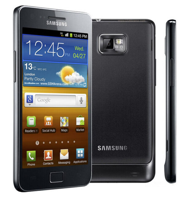 "NEW Unlocked Samsung Galaxy S II i9100 16GB 8MP 4.3"" GP[S Smartphone Black"