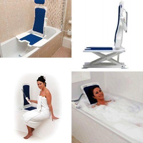 Drive Medical 477200252 White Bellavita Auto Bath Tub Chair Seat ...