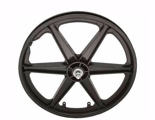 Bicycle 20 Front Wheel Mag Plastic 6 Spoke Black Beach Cruiser