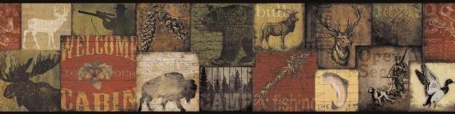 Wilderness Buffalo Moose Duck Deer Wallpaper Border By York