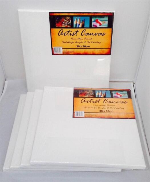 5 artist blank canvas 30 x 40cm or 40 x 50cm wholesale bulk crafts