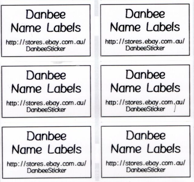42xextra large clear personalised name labels stickers 50mm x 30mm waterproof