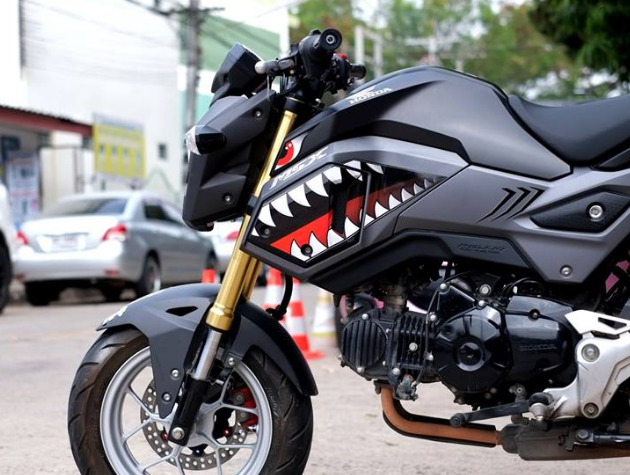 honda genuine msx125 grom sf 2017 fairings set decals. Black Bedroom Furniture Sets. Home Design Ideas