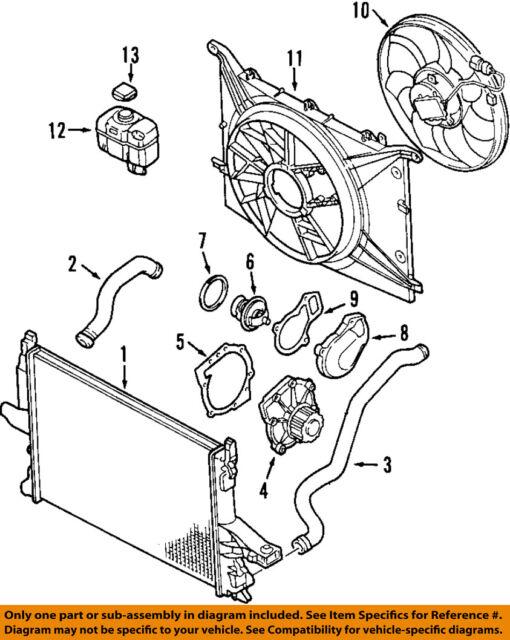 volvo xc90 engine coolant hose part 30741048 ebay rh ebay com Volvo T5 Engine Diagram 2002 Volvo S80 Engine Diagram