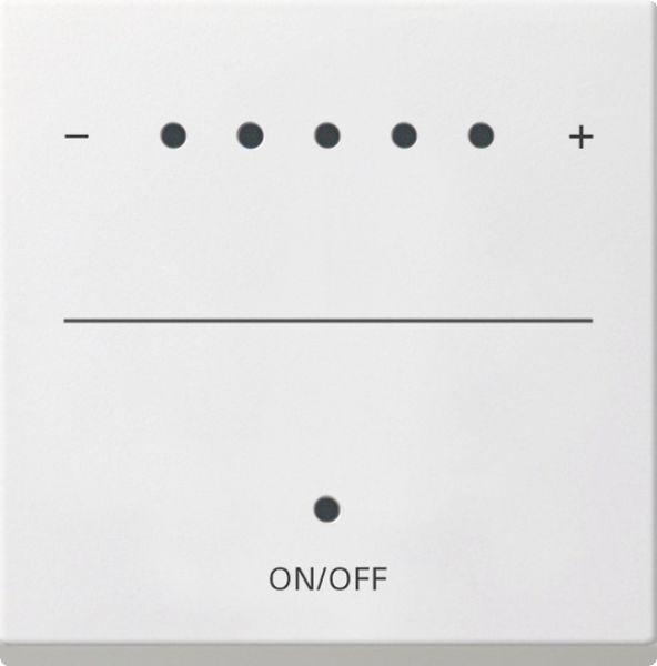 Gira System 55 Touch Tastdimmer Aufsatz Reinweiß glänzend 226003