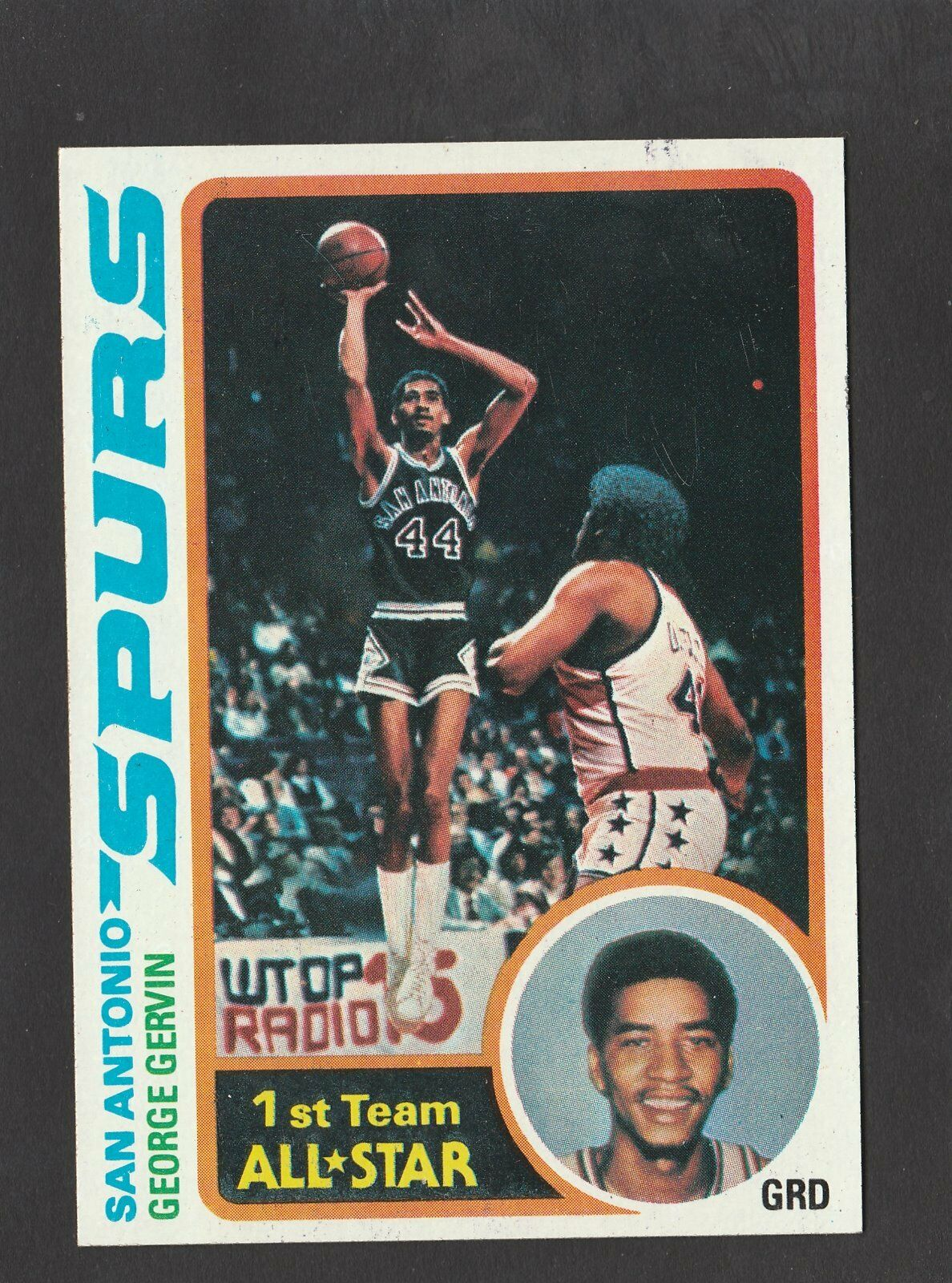 1978 Topps George Gervin 20 Basketball Card