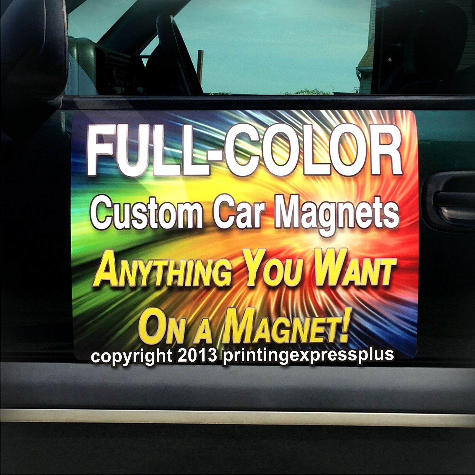 X Custom Car Magnets Magnetic Auto Truck Signs Design - Custom car magnets bumper