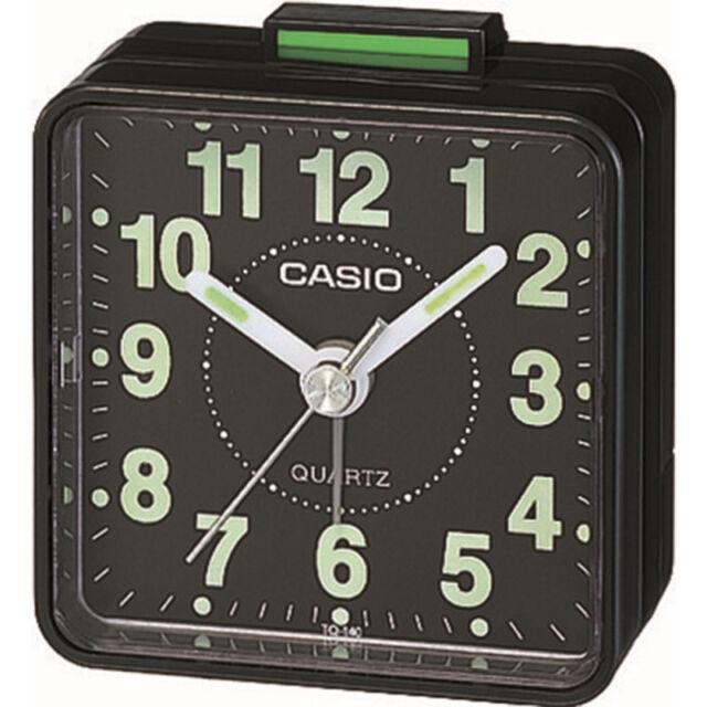 Casio Travel Quartz Beep Alarm Clock Tq140 1 Black