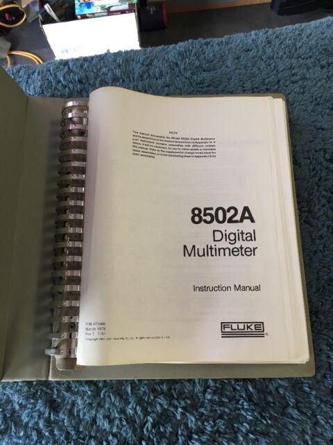 Fluke 88 Digital Multimeter Manual : Fluke digital multimeter instruction manual a ebay