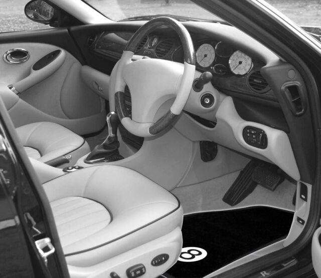 Sumex Branded Universal Eight Ball Velour Black Carpet Car Floor Mats (Set of 4)