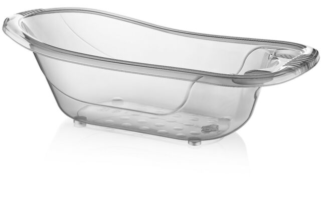 large 50 litre aqua clear transparent baby bath tub ebay. Black Bedroom Furniture Sets. Home Design Ideas