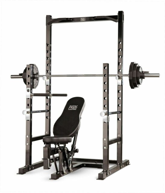 Marcy Platinum Multi Functional Power Rack and Weight Bench Set Pm