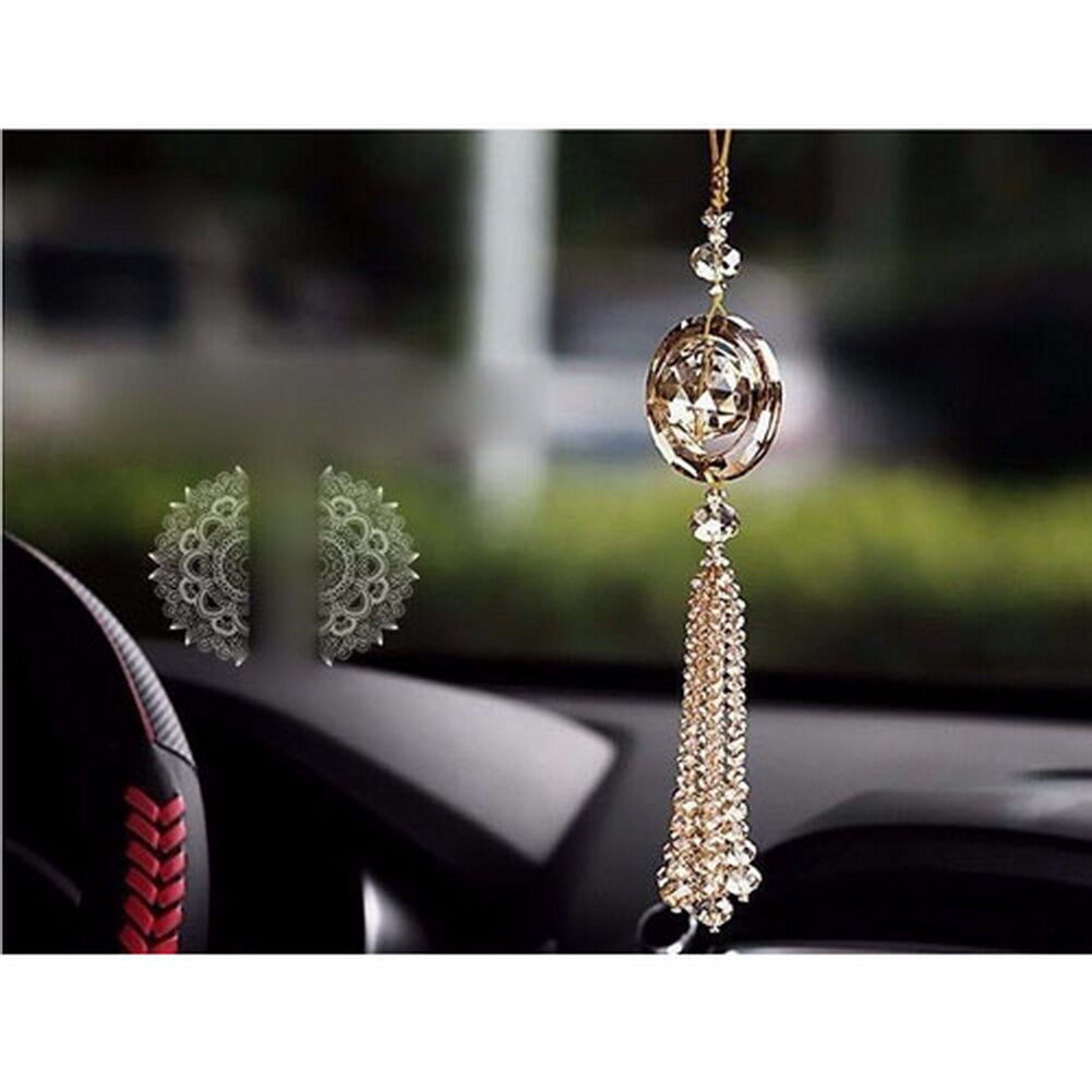 pendant ornament mirror car butterfly gem bling charm of view picture s crystal rear hanging p