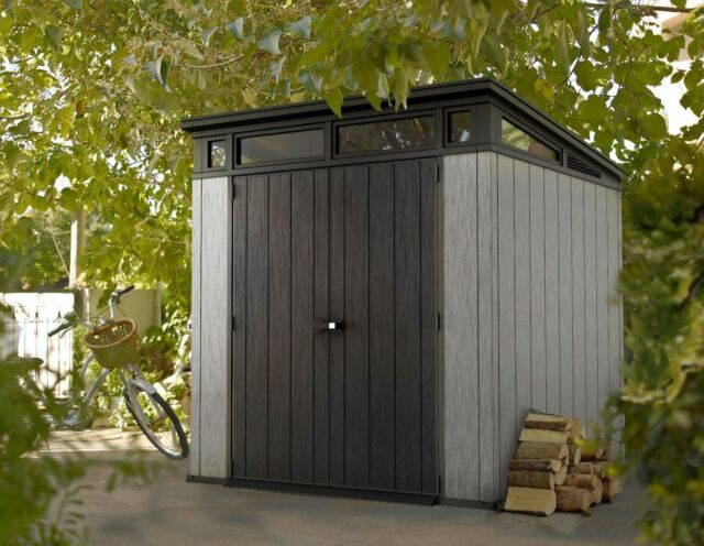 Keter Artisan 7x7 Oakland Garden Shed   10 Year Warranty   Fast Dispatch