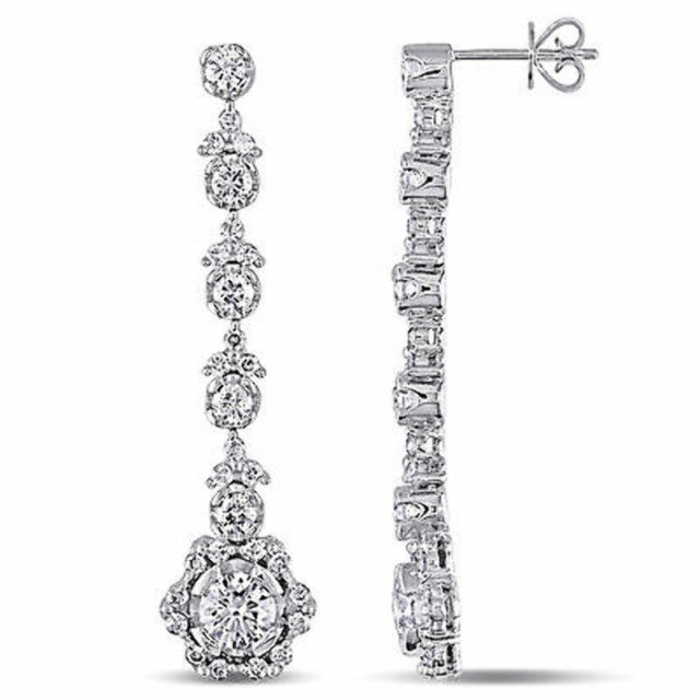 silver item real round luxury earring zirconia colorfish aaa plata zircon earrings ct for men solitaire cubic women stud sterling diamond cut