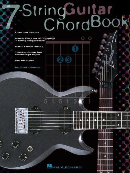 7 String Guitar Chord Book Easy To Read Diagrams Chad Johnson Hal