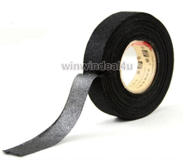 black linen adhesive fabric cloth wiring loom harness insulating rh ebay com Harness Clips On Tape EMF Wiring Harness