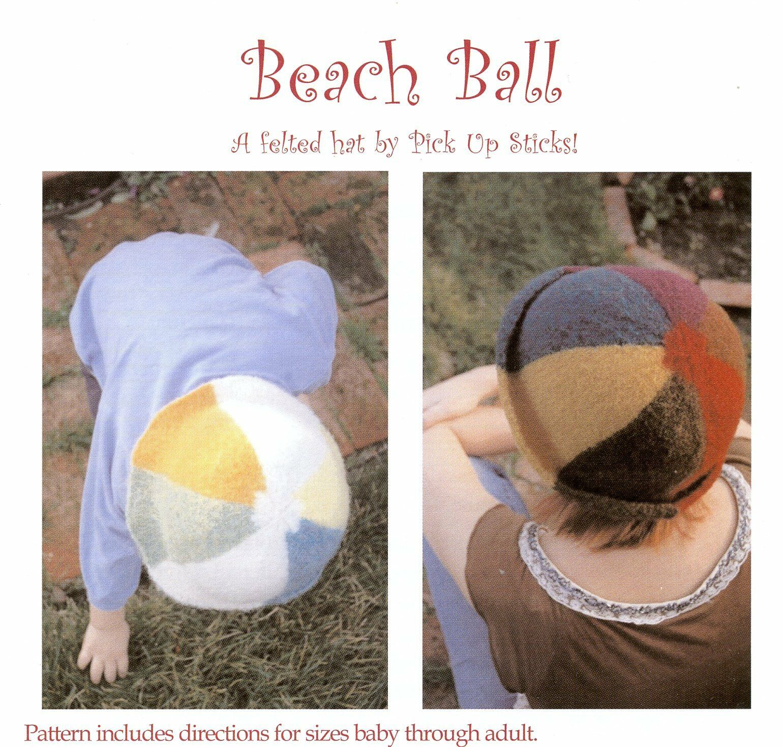 Pick up Sticks Knitting Pattern Beach Ball Felted Hat for Baby ...