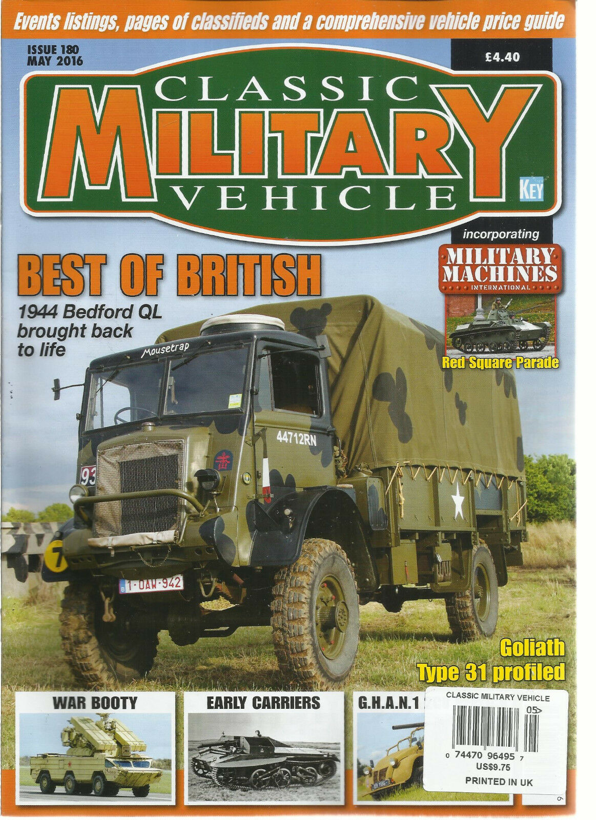 Classic Military Vehicle Magazine May 2016 Issue 180 ( Best of ...