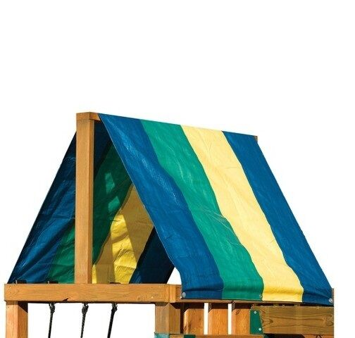 Multicolor Canopy Swing N Slide Replacement Tarp Roof Shade Playground Swingset