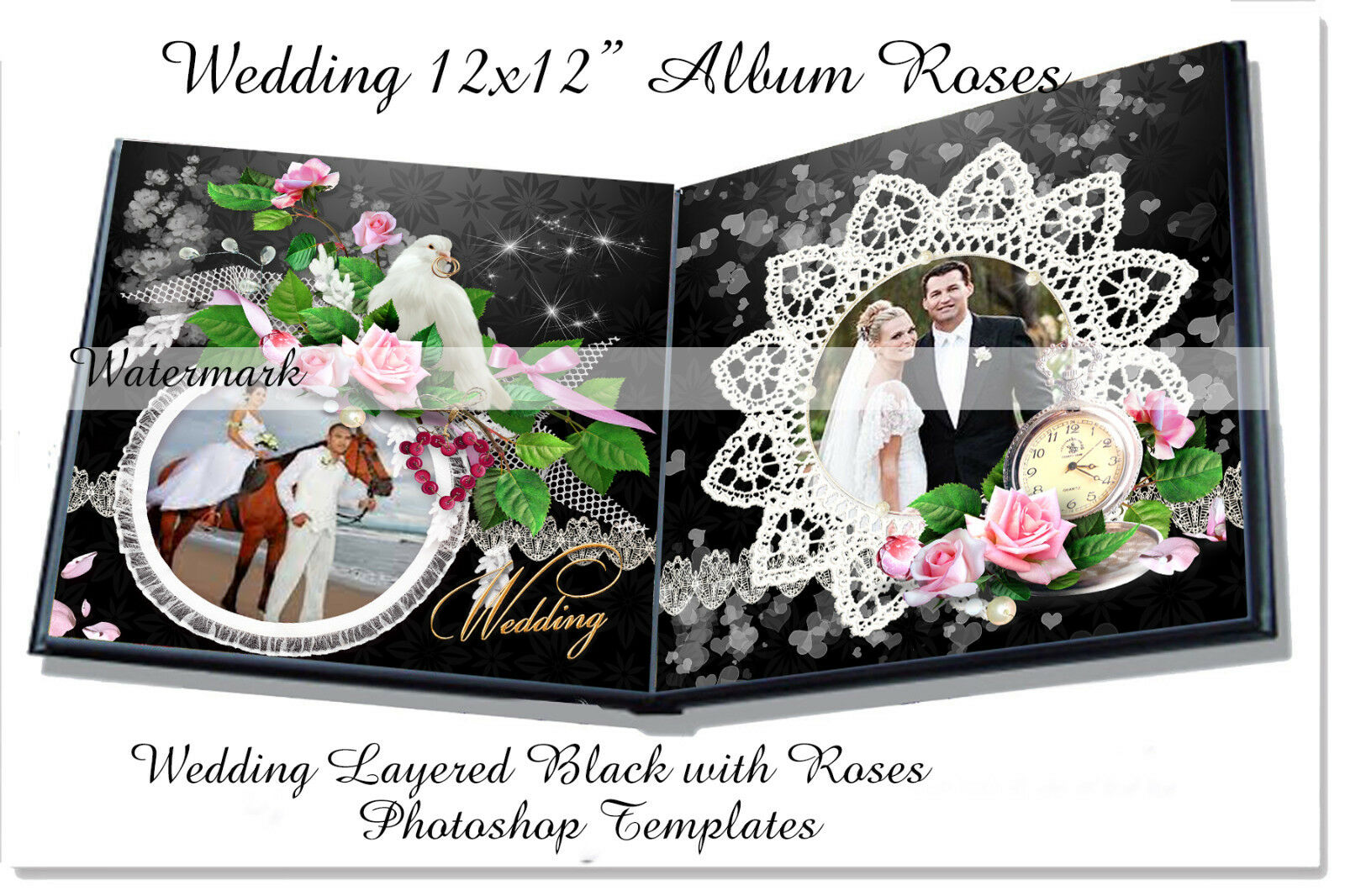 Photoshop Wedding Photo Album Templates PSD 12x12\