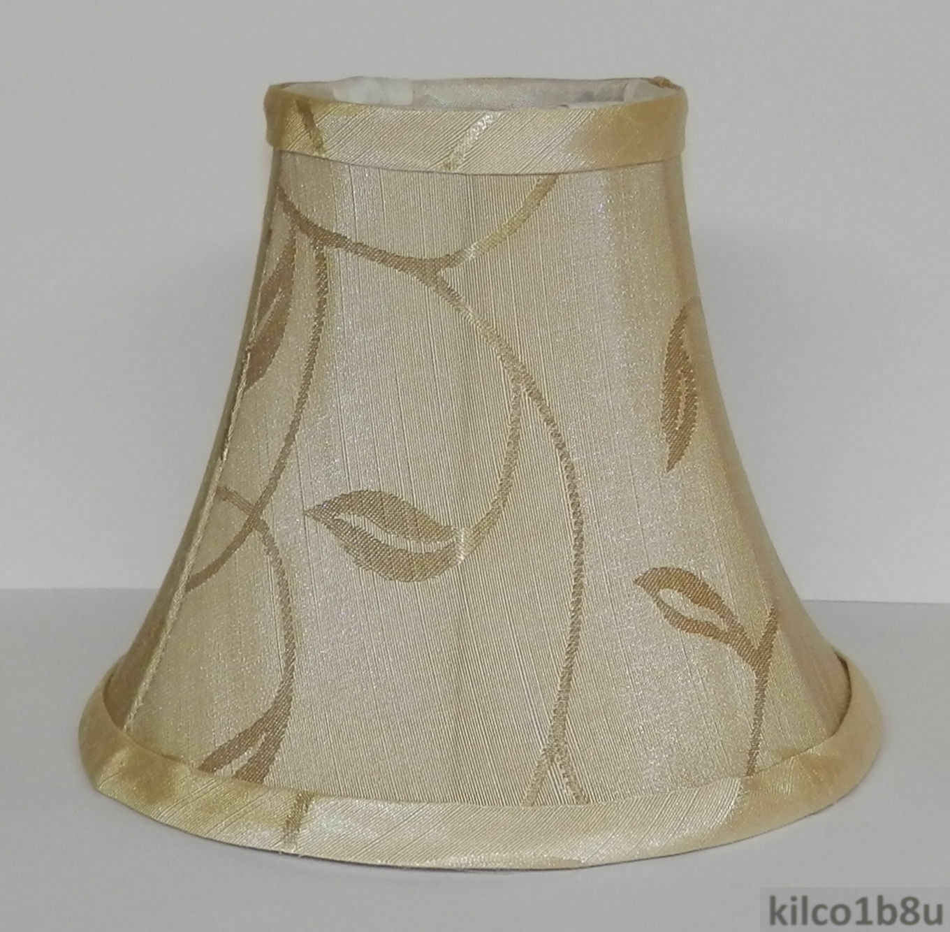 Five cream leaf fabric chandelier lamp shade ivories traditional picture 1 of 3 arubaitofo Image collections