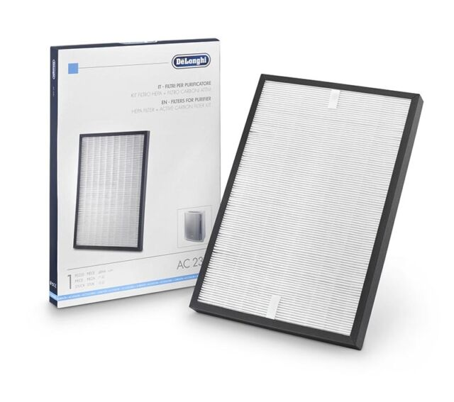 Delonghi kit HEPA filter 0.3 micron + Carbon Active purifier air generator AC230