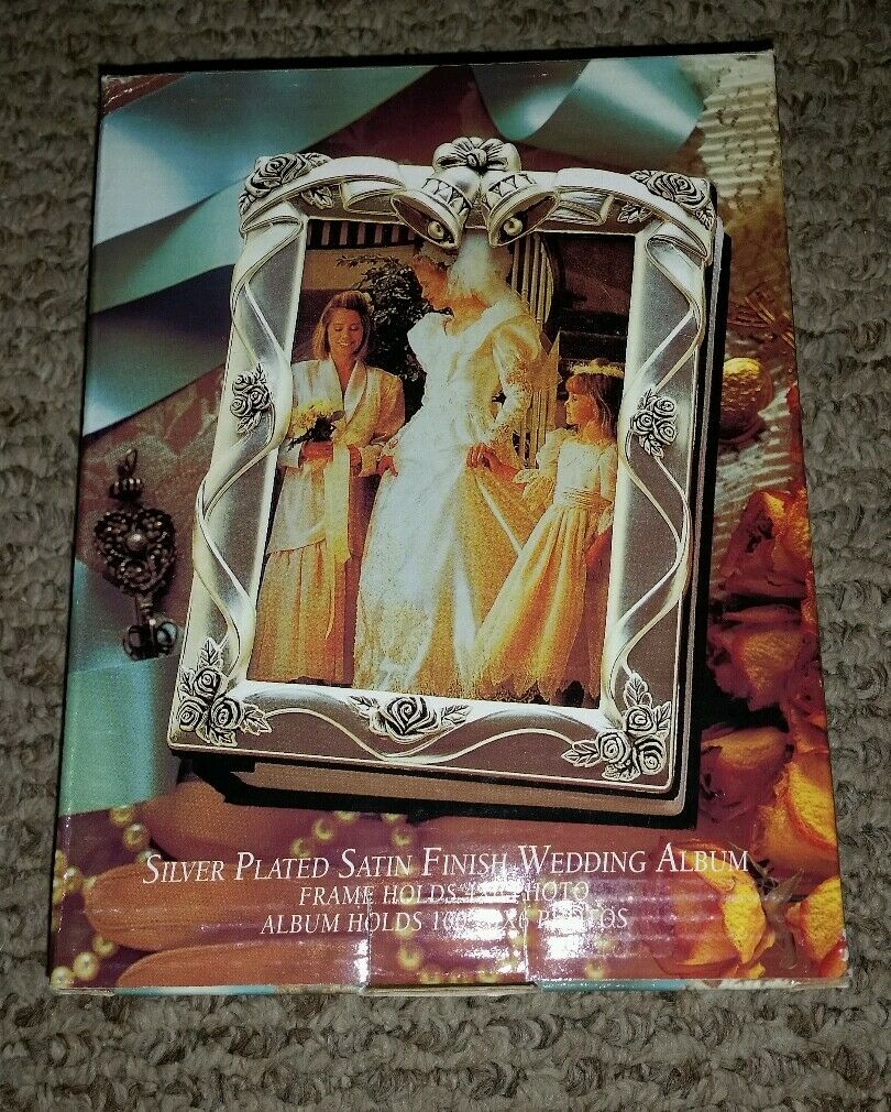 Godinger Silver Plated Wedding Bells Roses Photo Album Book 100 4 X ...