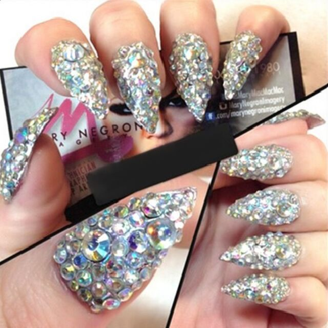 3d nail art tips gem 400pcs rhinestone crystal glitter for 3d nail art decoration