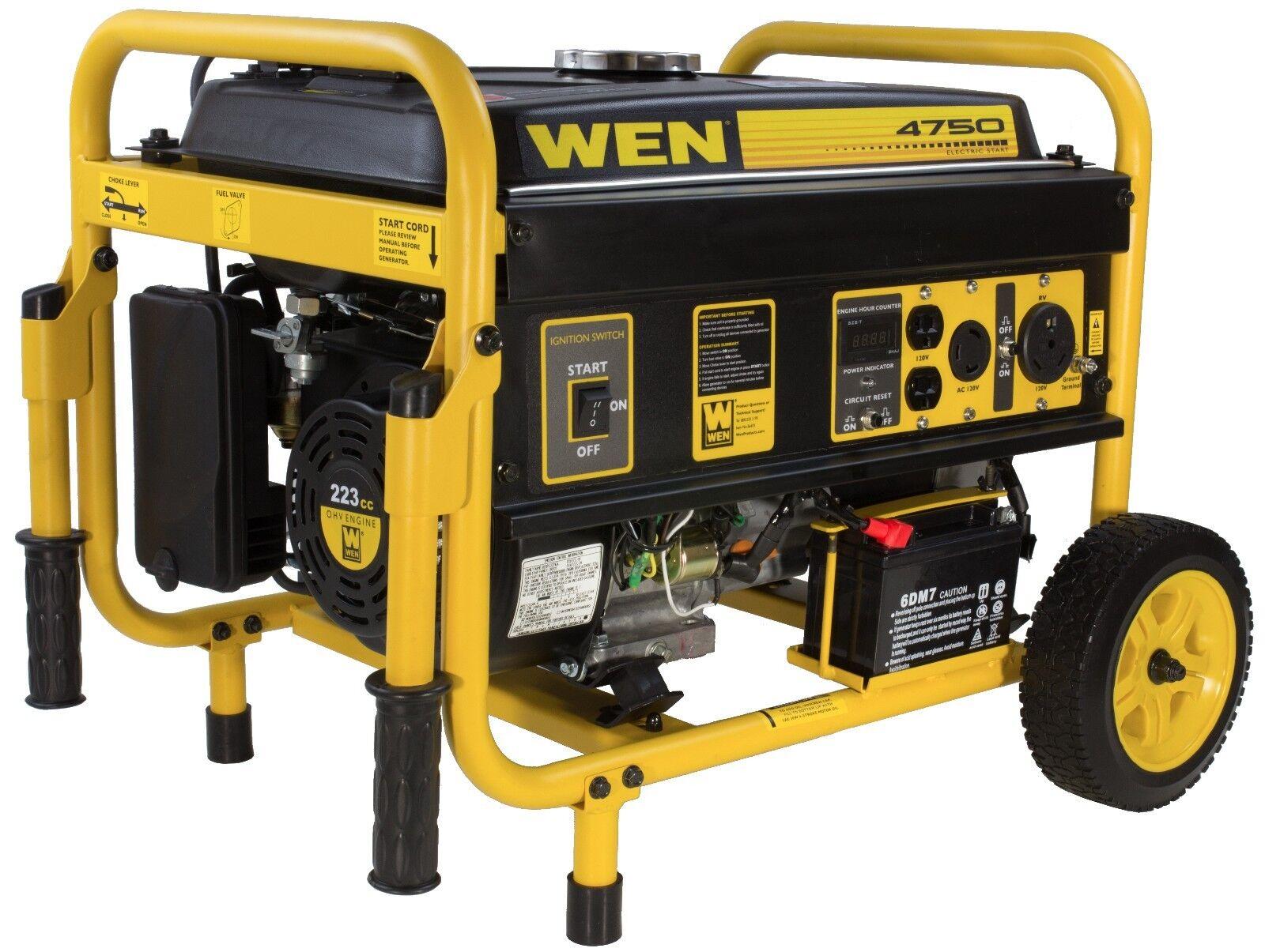 WEN 4750 Watt 8 HP Generator