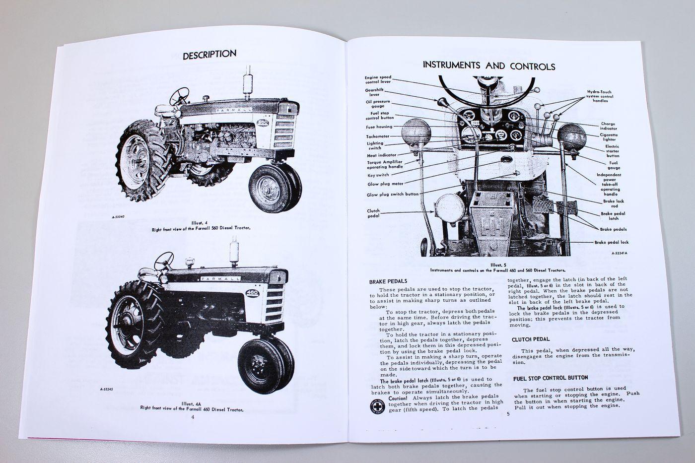 Farmall 560 Brake Diagram Wiring Portal Ih Diesel Tractor Owners Operators Manual Parts Catalog Rh Ebay Com 140 Pulling