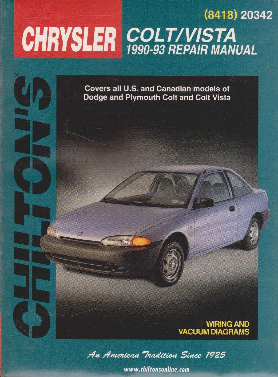 total car care repair manuals dodge colt and vista 1990 93 by rh ebay com 94 Dodge Colt 2 Door Picture of 92 Dodge Colt Car