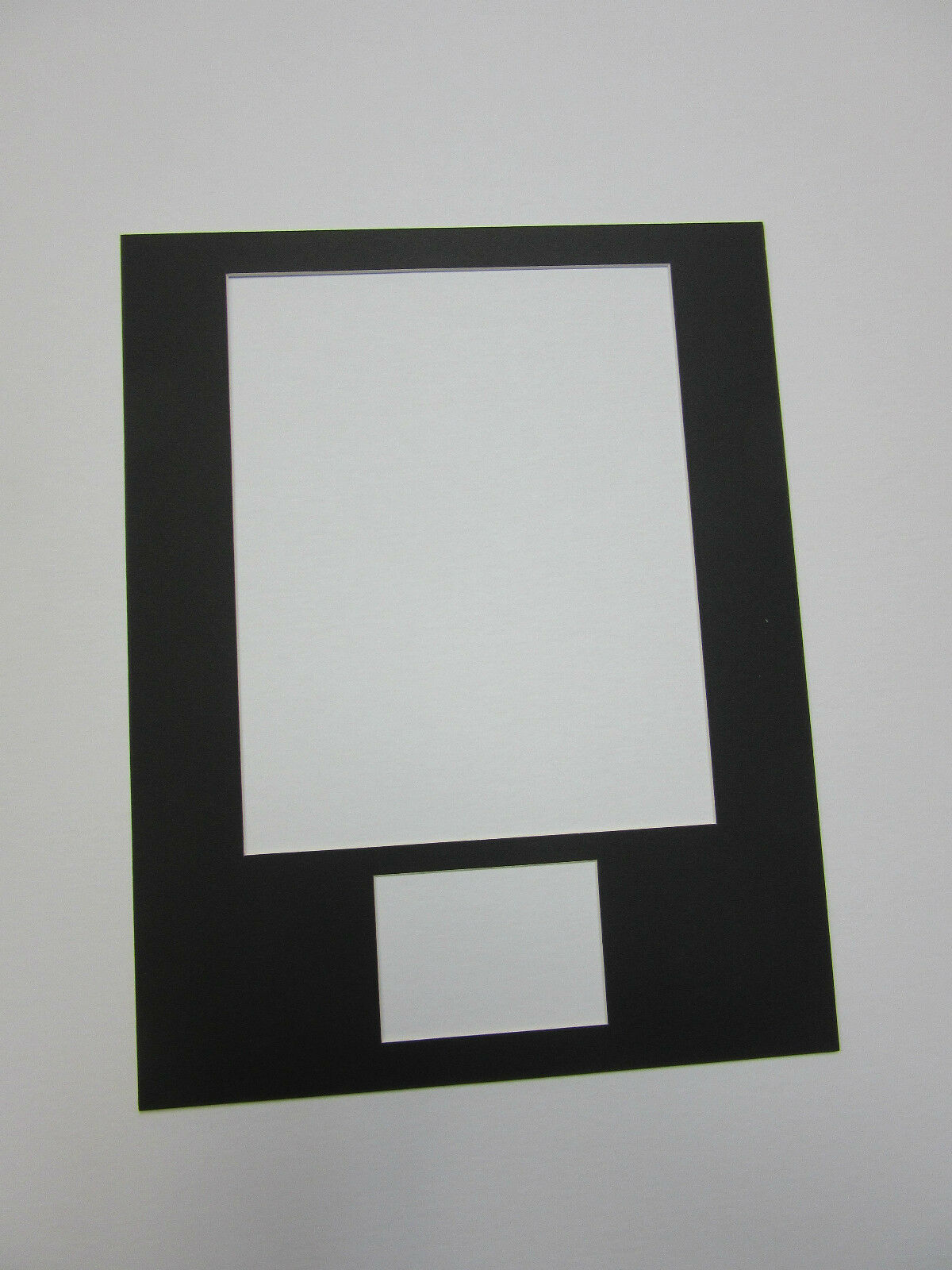 Picture Frame Mat 11x14 for 8x10 Photo and ACEO or Sports Card Black ...