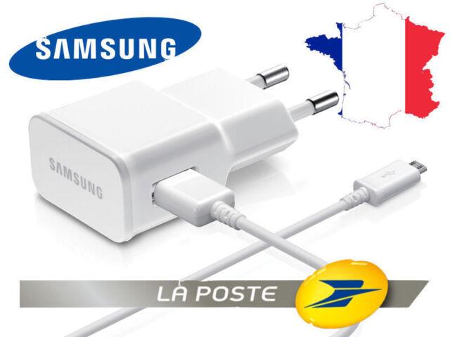 Chargeur cable secteur ORIGINE SAMSUNG Galaxy S3 S4 S5 S6 S7 A7 A5 A3 J3 J7 J5